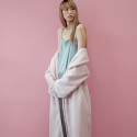 Fur Warmer Robe - Powder Pink