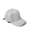 세컨무브(SECONDMOVE) BASIC BALL CAP_GRAY CHECK
