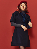 블랭크(BLANK) VELVET RIBBON DRESS-BK