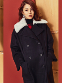 블랭크(BLANK) CLOUD DOUBLE COAT-BK