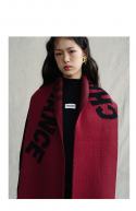 챈스챈스(CHANCECHANCE) Knit muffler(Burgundy)