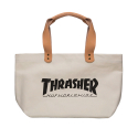 쓰레셔(THRASHER) THRASHER x HUF CANVAS TOTE (WHITE)