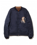 올드조(OLD JOE & CO) OLD JOE&CO / FADED VELVETEEN SOUVENIR JACKET / CAMEL / NAVY