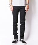크래프티드(KRAFTED) BLACK KNIFE CUT QUILTED JEANS