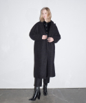 라티젠(LARTIGENT) LD LONG OVER COAT_BK