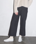 라티젠(LARTIGENT) LD CROP WIDE PANTS_GY