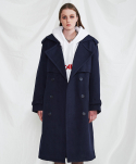Double long coat (navy)