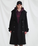 미니캡슐(MINI CAPSULE) Double long coat (black)