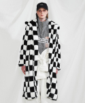 미니캡슐(MINI CAPSULE) Chess long fur coat