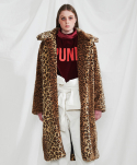 미니캡슐(MINI CAPSULE) Leopard long fur coat
