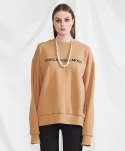 Basic logo sweat shirt (beige)