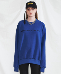 미니캡슐(MINI CAPSULE) Basic logo sweat shirt (blue)