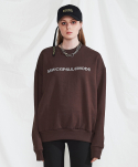 미니캡슐(MINI CAPSULE) Basic logo sweat shirt (brown)