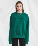 미니캡슐(MINI CAPSULE) Basic logo sweat shirt (green)