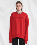 미니캡슐(MINI CAPSULE) Basic logo sweat shirt (red)