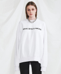 미니캡슐(MINI CAPSULE) Basic logo sweat shirt (white)