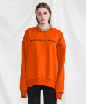 미니캡슐(MINI CAPSULE) Basic logo sweat shirt (orange)