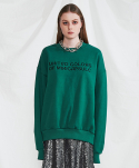 미니캡슐(MINI CAPSULE) Campaign sweat shirt (green)