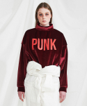 미니캡슐(MINI CAPSULE) Punk sweat shirt (wine)