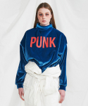 미니캡슐(MINI CAPSULE) Punk sweat shirt (blue)