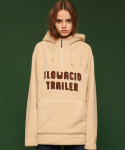슬로우애시드(SLOW ACID) [unisex] Fleece hoodie (ivory)