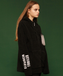 슬로우애시드(SLOW ACID) [unisex] Fleece hood zipup jacket (black)