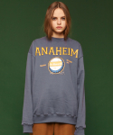 슬로우애시드(SLOW ACID) [unisex] Anaheim sweatshirt (grayish blue)