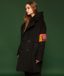 슬로우애시드(SLOW ACID) [unisex] Armband double brested coat (black)