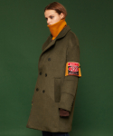 슬로우애시드(SLOW ACID) [unisex] Armband double brested coat (khaki)