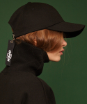 [unisex] Tail buckle cap (black)
