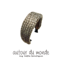 오뜨르 뒤 몽드(AUTOUR DU MONDE) SIMPLE KNITTING HAIRBAND (BROWN)