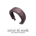 오뜨르 뒤 몽드(AUTOUR DU MONDE) SIMPLE KNITTING HAIRBAND (BURGUNDY)