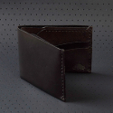 [EZRA ARTHUR]NO.6 Wallet-Jet Black