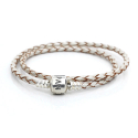 판도라(PANDORA) 590705CPL DOUBLE LEATHER BANGLE