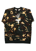 (MEN) LOLO UZI CREW NECK OLIVE CAMO