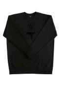 (MEN) LOLO UZI CREW NECK BLACK ON BLACK