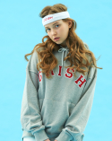 GRISH Signature Hoodie-(GRAY/RED)