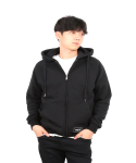 neverflow[기모]hoodie zip-up (black)