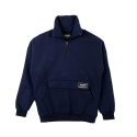 NEVERFLOW Half zip-up (navy)