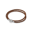 판도라(PANDORA) 590705CBN DOUBLE LEATHER BANGLE