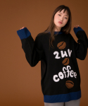 러브이즈트루() (UNISEX)CE COFFEE KNIT_BK