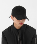 무지 볼캡 Suede/6p ball cap (BLACK)