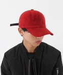 더나잇(THENIGHT) 무지 볼캡 Suede/6p ball cap (RED)
