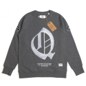콴토데로코스(QANTO DE LOCOS) Q PATCH_CREWNECK_DARKGREY