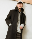 시에스타(SIESTA) SIESTA SINGLE HALF COAT [BLACK]