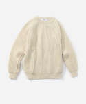 FISHERMAN RIB CREW NECK PURE ARAN
