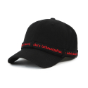 HVPE LONG STRAP BALL CAP BLACK/RED