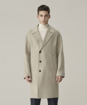 가먼트레이블() Handmade Half double Coat - Light Beige
