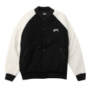 스투시() TWO TONE WOOL VARSITY (BLACK) [115319-BLAC]