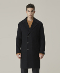 가먼트레이블(GARMENT LABLE) Handmade Half double Coat - Black